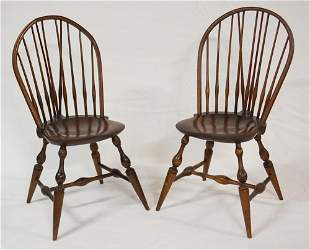 Pair American Windsor Chairs by Wallace Nutting