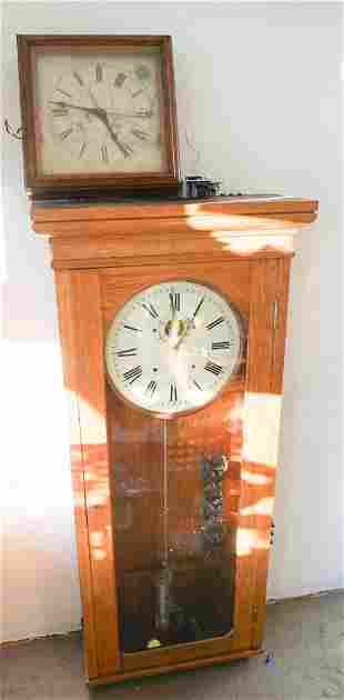 E Howard & Co Master Wall Regulator & Slave Clock