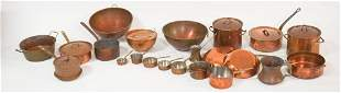 Collection Antique & Vintage French CopperCookware
