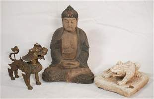 Three Vintage Oriental Table Articles