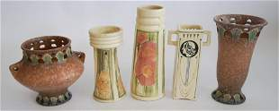 Antique Arts & Crafts Pottery Vessels by Weller