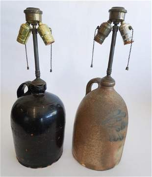 Two Antique American Pottery Jugs