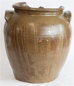 Handsome Southern Slave Made Storage Jar by Dave