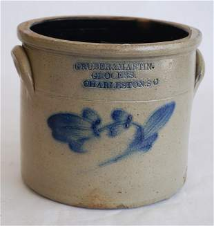 Charleston, SC Stoneware Merchant Storage Jar