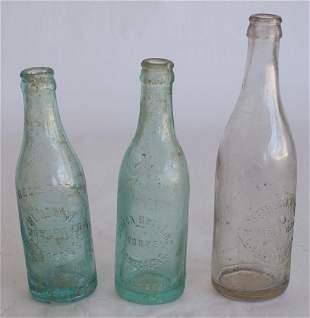 Three Upcountry South Carolina Antique Bottles