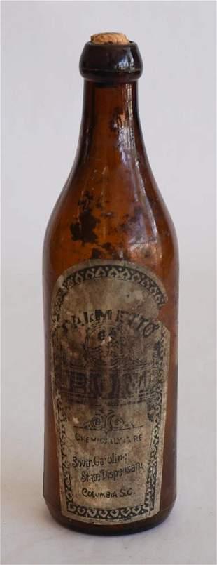 South Carolina Dispensary Paper Label Bottle