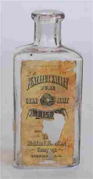 Antique Paper Label Whiskey Bottle of SC Interest