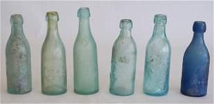 Antique Southern Coastal Blob Top Bottles