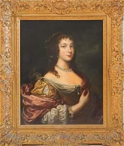 French School Portrait of Queen Cristina of Sweden