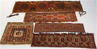 Five Vintage Persian Tribal Saddle Carpets