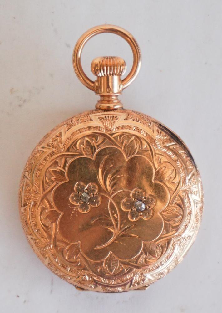 Antique 14k Gold Waltham Pocket Watch