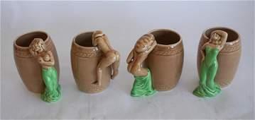 Collection Art Deco Vintage Figural Erotic Mugs