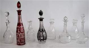 Collection Cut Crystal Liquor Decanters