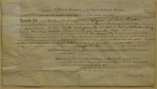 Thomas Jefferson & James Madison Signed Land Grant