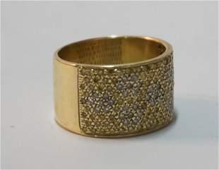 Ladies 14k Gold & Diamond & Citrine Fashion Ring
