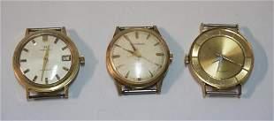 Three Gentleman's Vintage Automatic Wristwatches