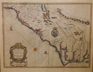 1676 Map of Carolina by John Speed