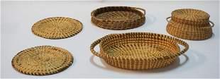 Vintage SC Gullah Baskets & One Pine Straw Basket