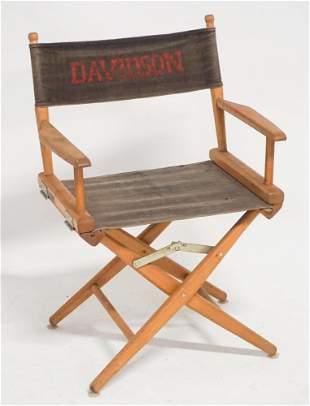 Vintage Folding Davidson College NC Sideline Chair