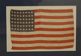 Antique Homespun 48 Star Small American Flag