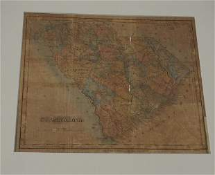 Early 19c SC Map Lucas Baltimore for Mills Atlas