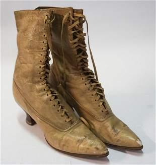 Pair Antique Ladies Boots of NC Interest