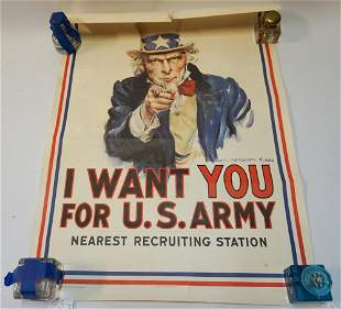James Montgomery Flagg US Army Recruitment Poster