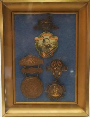 Three Antique Confederate Veterans Badges