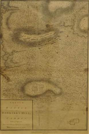 Original 1794 Map of the Battle of Hobkirk's Hill