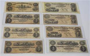 Collection Antique Charleston South Carolina Bills