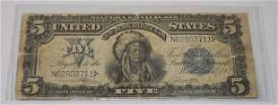 Antique US 5 Dollar Silver Certificate