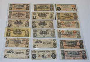 Collection Confederate Obsolete Currency