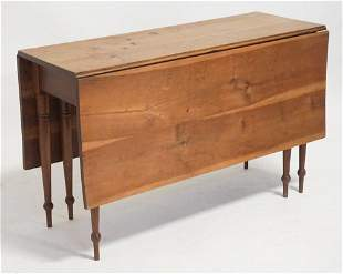 Country Sheraton Cherry Wood Drop Leaf Table