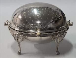 Elkington & Co Silvered Copper Lidded Serving Bowl