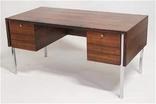 Fine Svedn Madsen Rosewood & Chrome Desk