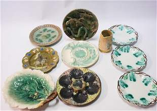 Collection Antique Continental Majolica Articles