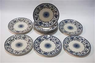 Set Brownfield & Son Ironstone Dinner Plates