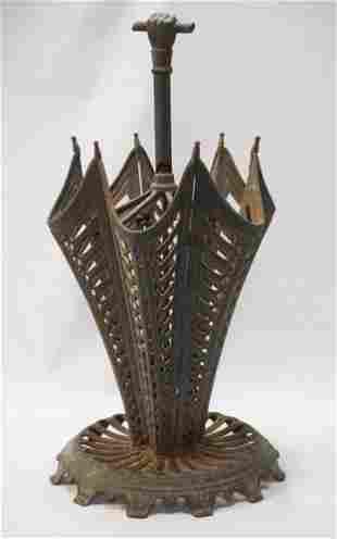 Fine Antique Cast Iron Figural Umbrella Stand