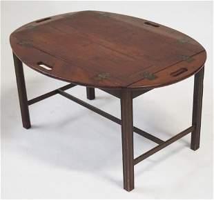 British George III Mahogany Butlers Tray Table