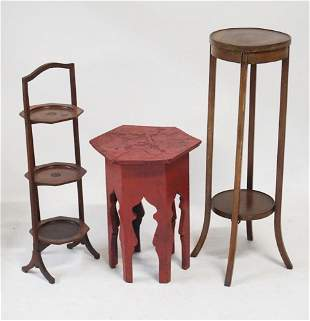 Group Three Antique or Vintage Side Tables