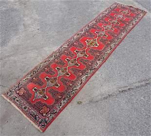 Vintage Persian Seneh Runner Carpet