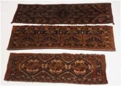 Collection Five Antique Persian Saddle Carpets