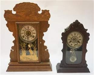 Two Antique Victorian Mantel Clocks