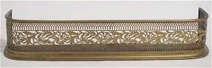 Handsome British Regency Pierced Brass Fire Fender