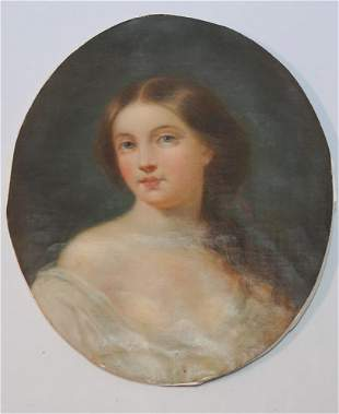 American School Portrait of Young Lady