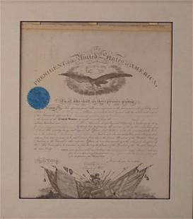 Abraham Lincoln Signed Presidential Document