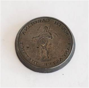 18th or Early 19th Cent SC Forged Metal Wax Seal