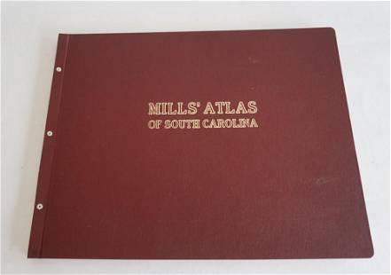 1972 Printing Robert Mills Atlas of South Carolina