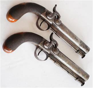 Very Fine Pair English Percussion Military Pistols
