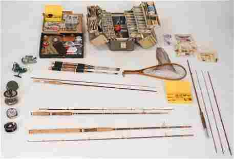 Collection Vintage Fly Fishing Rods, Reels & Lures